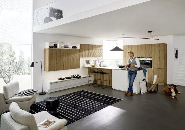 Küchenstile für offenes Wohnen